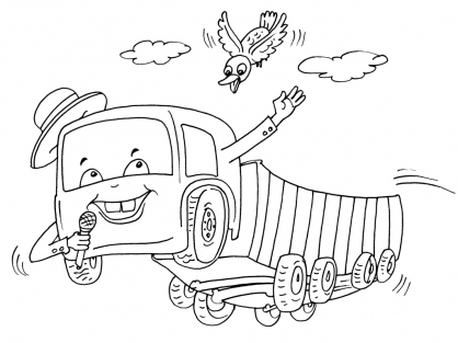 Coloriage Camion 26