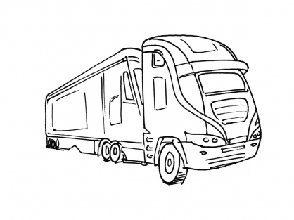 Coloriage Camion 3