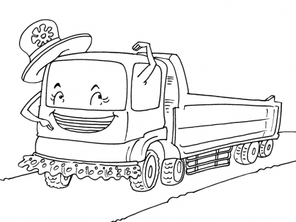 Coloriage Camion 30