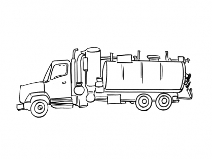 Coloriage Camion 5