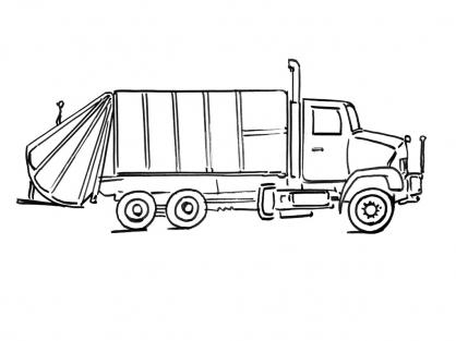 Coloriage camion 6 coloriage camions coloriage transports - Coloriage camion de poubelle ...