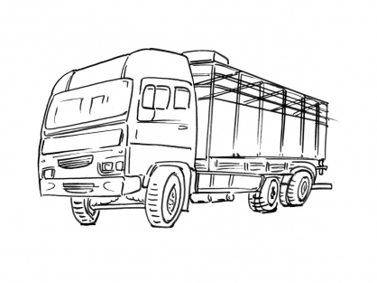 Coloriage Camion 8