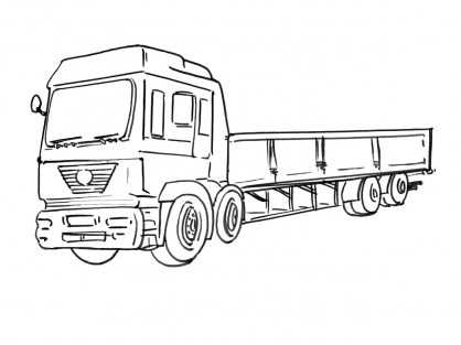 Coloriage Camion 9