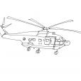 Coloriage Hélicoptère 1