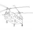 Coloriage Hélicoptère 10