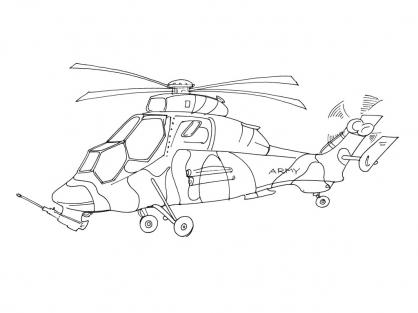 Coloriage Hélicoptère 11