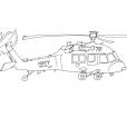 Coloriage Hélicoptère 12