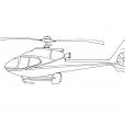 Coloriage Hélicoptère 2