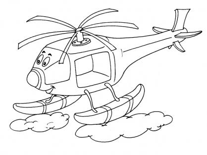 Coloriage Hélicoptère 23