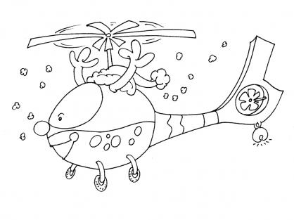 Coloriage Hélicoptère 27