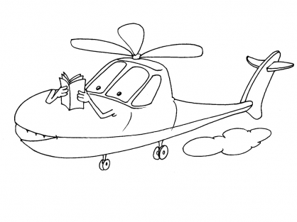 Coloriage Hélicoptère 28
