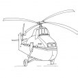 Coloriage Hélicoptère 3
