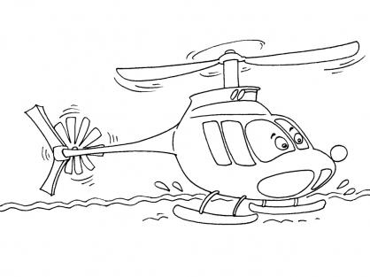 Coloriage Hélicoptère 30