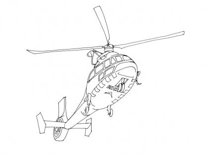 Coloriage Hélicoptère 4