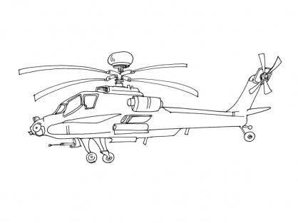 Coloriage Hélicoptère 6