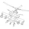 Coloriage Hélicoptère 7