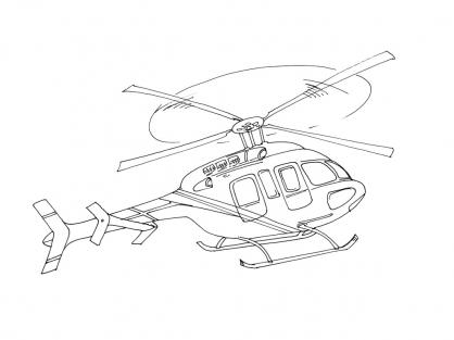 Coloriage Hélicoptère 8