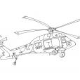 Coloriage Hélicoptère 9