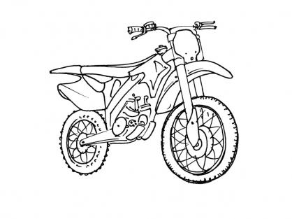 Coloriage Moto 1