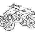 Coloriage Moto 12
