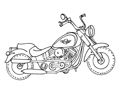 Coloriage Moto 14