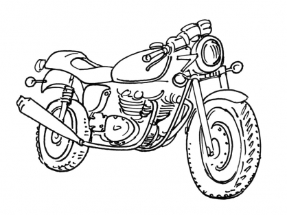 Coloriage moto 15 coloriage motos coloriage transports - Coloriage motos ...