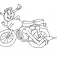 Coloriage Moto 16