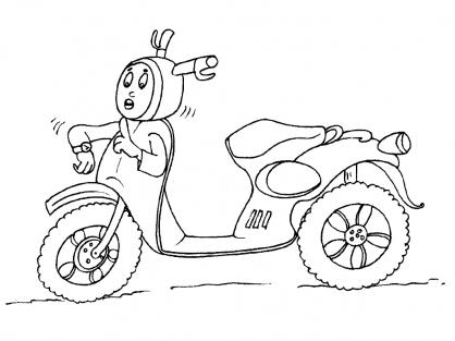 Coloriage Moto 20