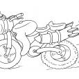 Coloriage Moto 25