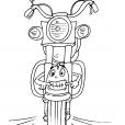 Coloriage Moto 27
