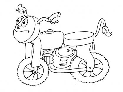 Coloriage Moto 30