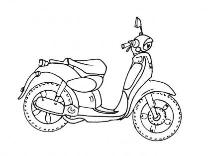 Coloriage Moto 4