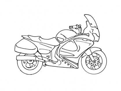 Coloriage Moto 5