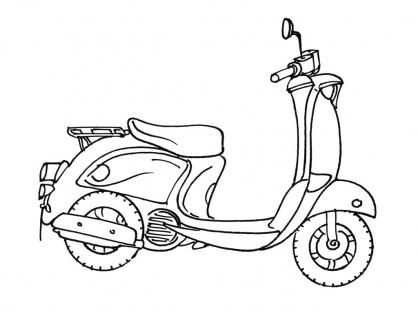Coloriage Moto 6