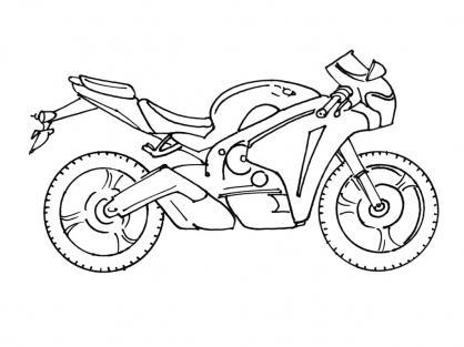 Coloriage Moto 7