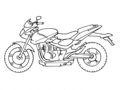 Coloriage Moto 8