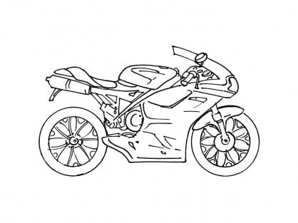 Coloriage Moto 9