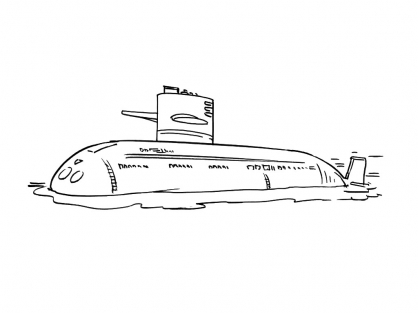 Coloriage Sous-marin 1