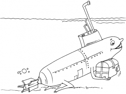 Coloriage Sous-marin 26