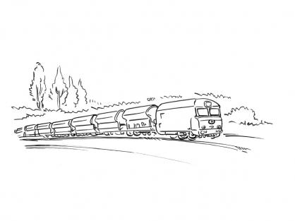 Coloriage Train 1