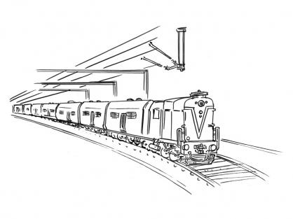 Coloriage Train 12
