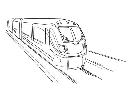 Coloriage Train 13