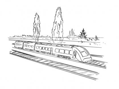 Coloriage Train 14