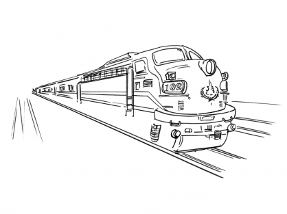 Coloriage Train 15