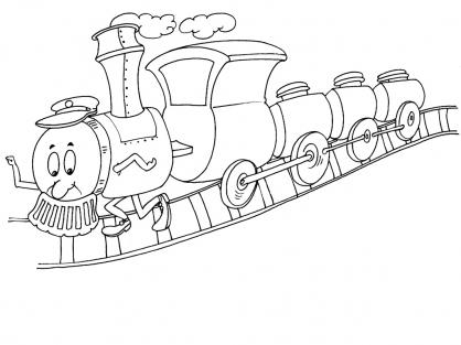 Coloriage Train 16