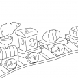 Coloriage Train 17