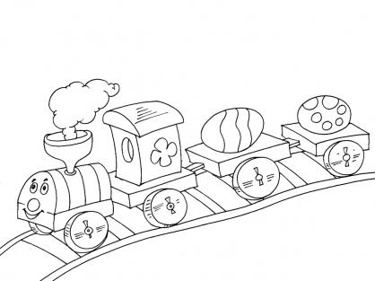 Coloriage Train 17