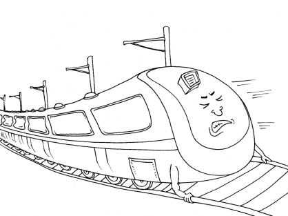 Coloriage Train 18