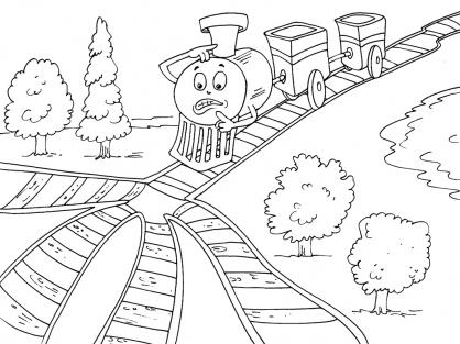 Coloriage Train 19