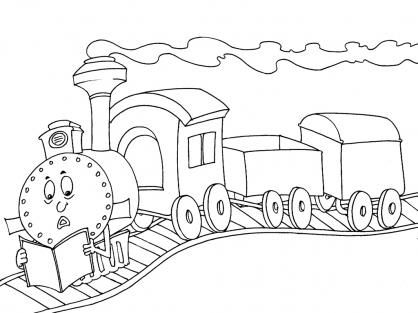 Coloriage Train 22